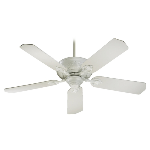 Quorum Lighting Quorum Lighting Chateaux Studio White Ceiling Fan Without Light 78525-8