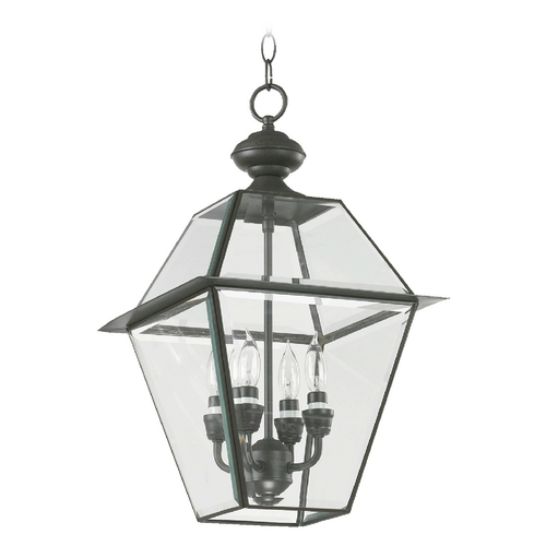 Quorum Lighting Quorum Lighting Duvall Bronze Outdoor Hanging Light 728-4-36