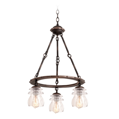 Kalco Lighting Kalco Lighting Brierfield Antique Copper Mini-Chandelier 6319AC