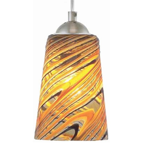 Oggetti Lighting Oggetti Lighting Carnivale Satin Nickel Mini-Pendant Light with Cylindrical Shade 22-L0205P