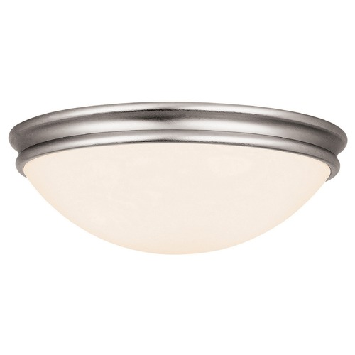Access Lighting Access Lighting Atom Brushed Steel LED Flushmount Light 20725LEDD-BS/OPL