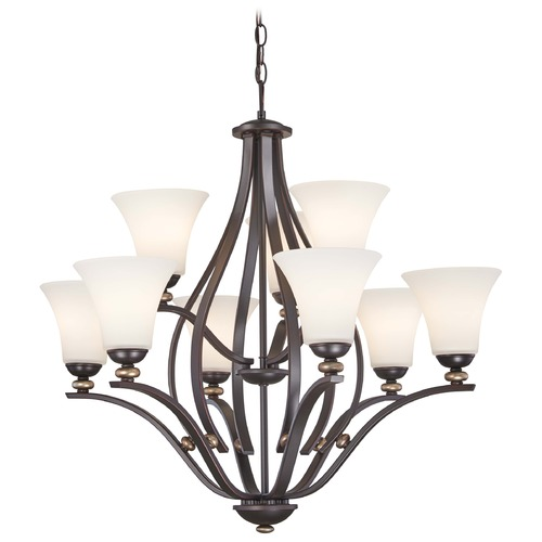 Minka Lavery Minka Shadowglen Lathan Bronze with Gold Chandelier 3289-589