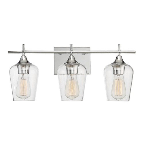 Savoy House Savoy House Lighting Octave Polished Chrome Bathroom Light 8-4030-3-11