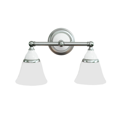 Hudson Valley Lighting Bathroom Light with White Glass in Polished Brass Finish 462-PB