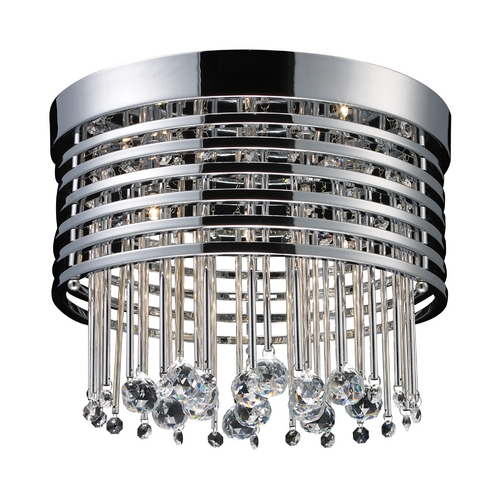 Elk Lighting Modern Flushmount Light in Polished Chrome Finish 30023/5