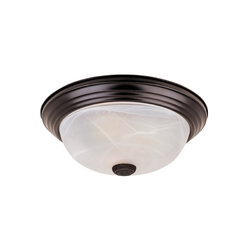 Designers Fountain Lighting Flushmount Light with Alabaster Glass in Oil Rubbed Bronze Finish ES1257L-ORB-AL