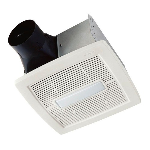 NuTone NUTONE InVent White Polymeric LED Exhaust Fan with Light AEN110L