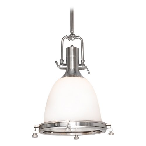 Maxim Lighting Maxim Lighting Hi-Bay Satin Nickel Pendant Light with Bowl / Dome Shade 25116SWSN