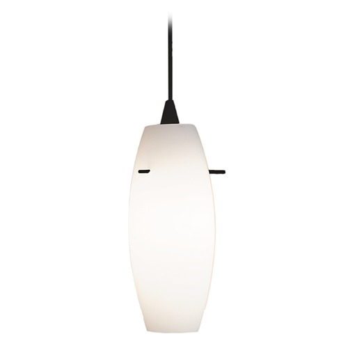 WAC Lighting WAC Lighting Contemporary Collection Black Mini-Pendant with Oblong Shade PLD-F4-451WT/BK