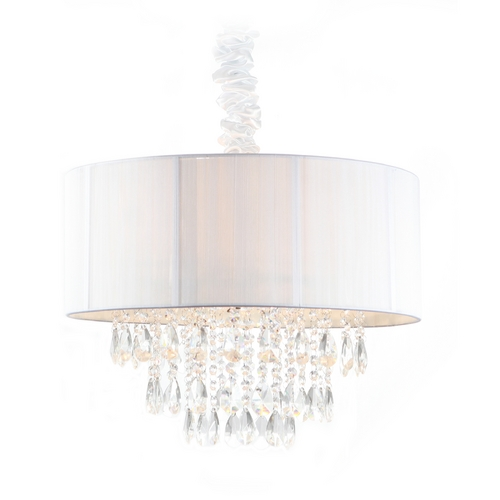 Avenue Lighting Avenue Lighting Vineland Avenue Pendant Light with Drum Shade HF1506-WHT