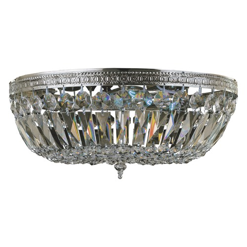 Crystorama Lighting Crystorama Lighting Ceiling Mount Polished Chrome Flushmount Light 716-CH-CL-SAQ
