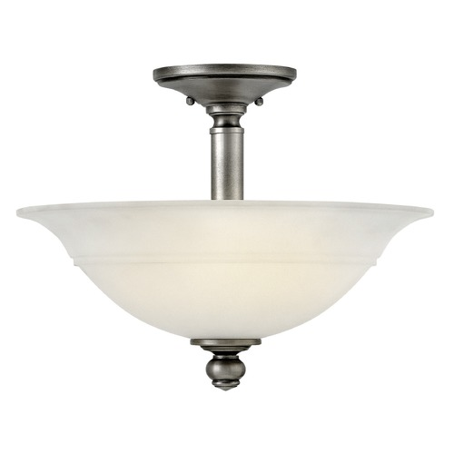 Hinkley Lighting Hinkley Lighting Plymouth Polished Antique Nickel Semi-Flushmount Light 4242PL