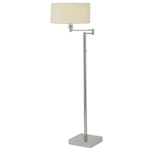 House of Troy Lighting House Of Troy Franklin Polished Nickel Swing Arm Lamp with Drum Shade FR701-PN