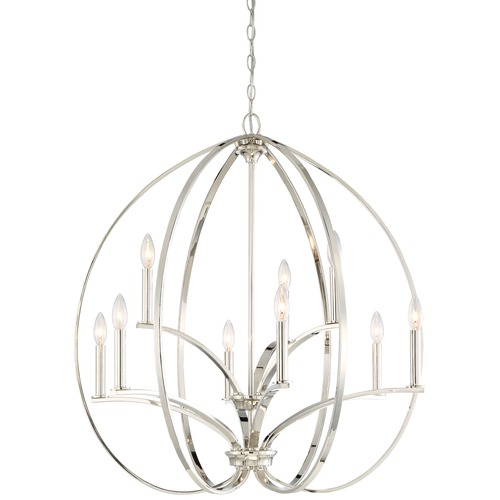 Minka Lavery Minka Tilbury Polished Nickel Chandelier 4989-613