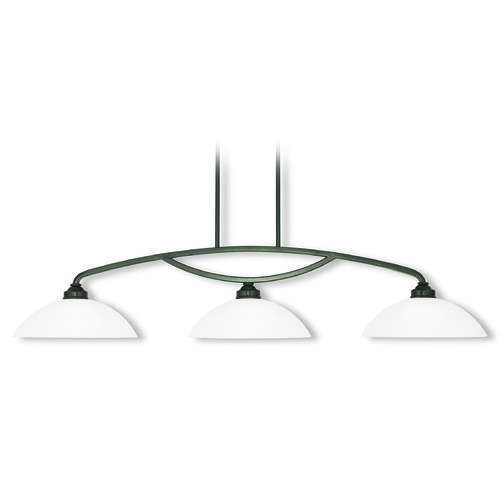 Livex Lighting Livex Lighting Somerset English Bronze Island Light with Bowl / Dome Shade 4224-92