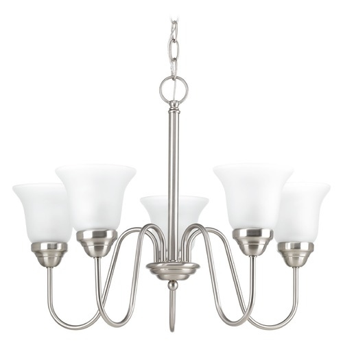 Progress Lighting Progress Lighting Classic Brushed Nickel Chandelier P4757-09
