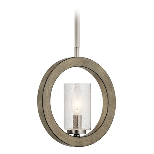 Kichler Lighting Seeded Glass Mini-Pendant Light Gray Kichler Lighting 43189DAG