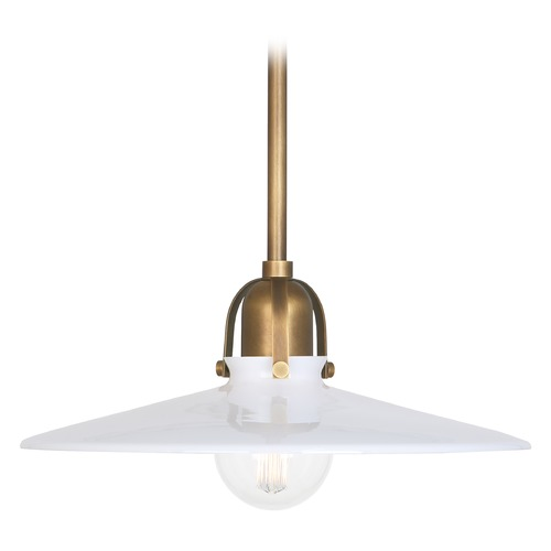 Robert Abbey Lighting Robert Abbey Lighting Rico Espinet Arial Warm Brass Pendant Light with Coolie Shade 615