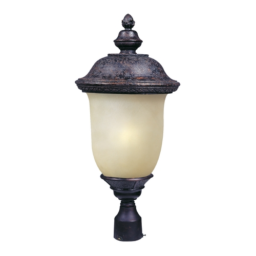 Maxim Lighting Post Light with Beige / Cream Glass in Oriental Bronze Finish 85520MOOB