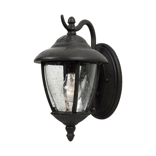Sea Gull Lighting Outdoor Wall Light with Clear Glass in Oxford Bronze Finish 84069-746
