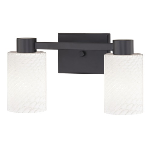 Design Classics Lighting Design Classics Vashon Matte Black Bathroom Light 2102-07 GL1020C