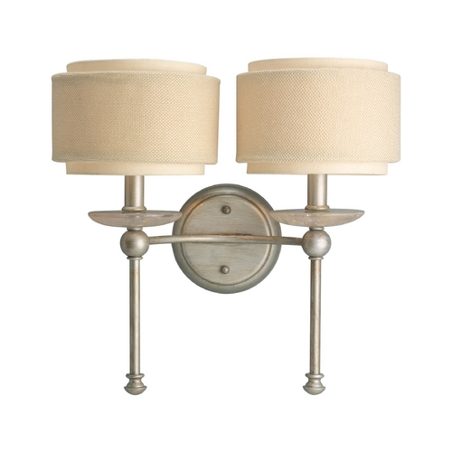 Progress Lighting Progress Sconce Wall Light in Silver Ridge Finish P2843-134