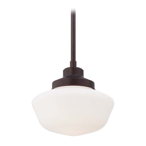 Minka Lavery Schoolhouse Period Lighting Pendant in Brushed Bronze Finish 2254-576