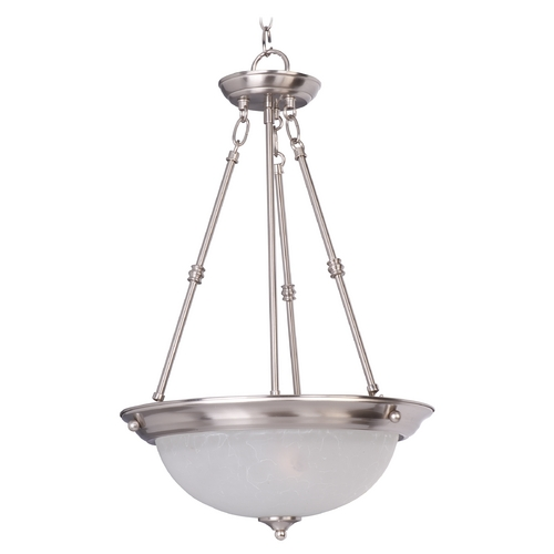 Maxim Lighting Maxim Lighting Essentials Satin Nickel Pendant Light 5845ICSN