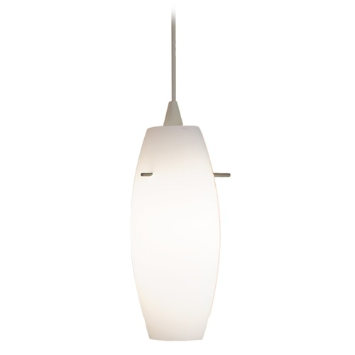 WAC Lighting Wac Lighting Contemporary Collection Brushed Nickel Mini-Pendant with Oblong Shade PLD-F4-451WT/BN
