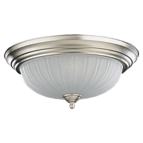 Quorum Lighting Quorum Lighting Satin Nickel Flushmount Light 3074-15-65