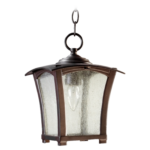 Quorum Lighting Quorum Lighting Gable Oiled Bronze Outdoor Hanging Light 7511-8-86