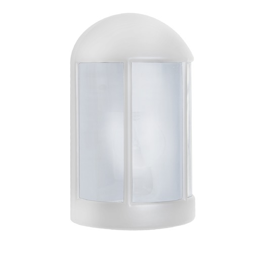 Besa Lighting Frosted Glass Outdoor Wall Light White Costaluz by Besa Lighting 315253-FR