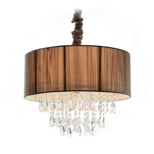 Avenue Lighting Avenue Lighting Vineland Avenue Pendant Light with Drum Shade HF1506-TP