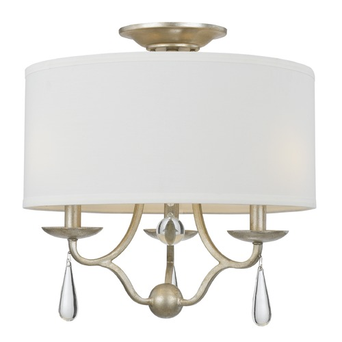 Crystorama Lighting Crystorama Lighting Manning Silver Leaf Semi-Flushmount Light 5973-SL_CEILING