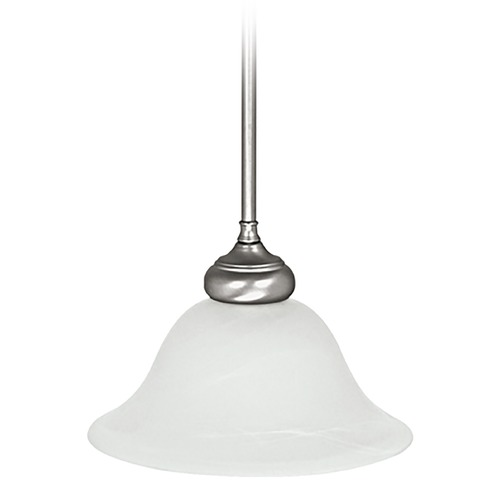 Capital Lighting Capital Lighting Matte Nickel Mini-Pendant Light with Bell Shade 3150MN-224