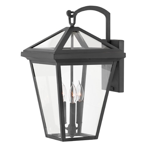 Hinkley Hinkley Alford Place 3-Light 20.5-Inch Museum Black Outdoor Wall Light 2565MB