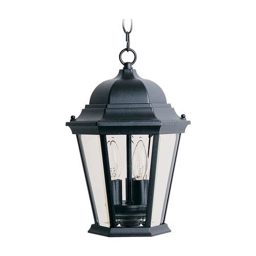 Maxim Lighting Outdoor Hanging Light with Clear Glass in Black Finish 1009BK