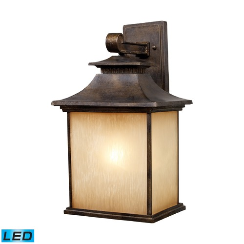 Elk Lighting Elk Lighting San Gabriel Hazlenut Bronze LED Outdoor Wall Light 42182/1-LED