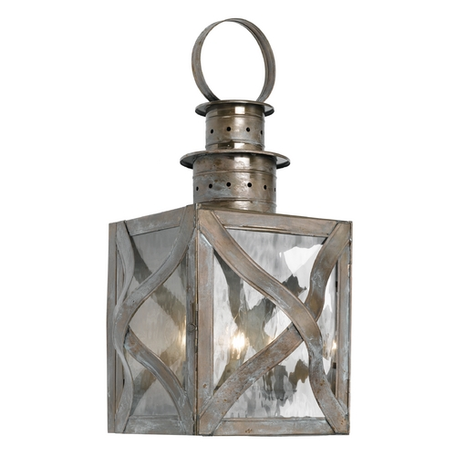 Elk Lighting Outdoor Wall Light with Clear Glass in Olde Bay Finish 2142-WB