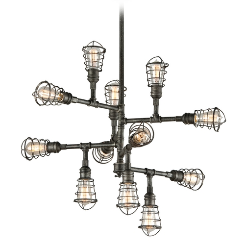 Troy Lighting Troy Lighting Conduit Old Silver Pendant Light F3817