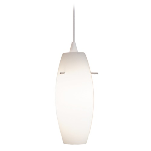 WAC Lighting Wac Lighting Contemporary Collection White Mini-Pendant with Oblong Shade PLD-F4-451WT/WT