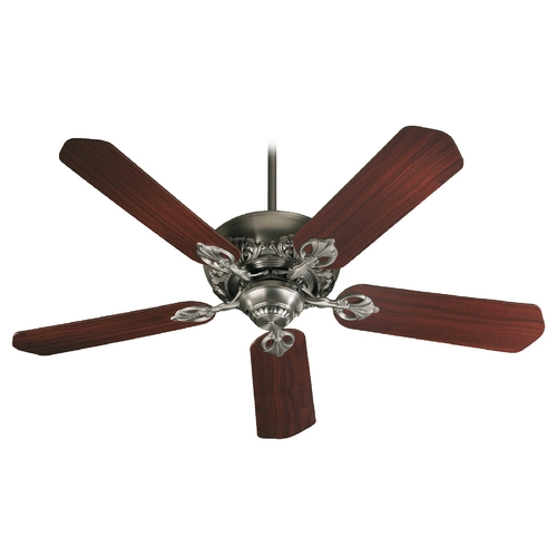 Quorum Lighting Quorum Lighting Chateaux Antique Silver Ceiling Fan Without Light 78525-92