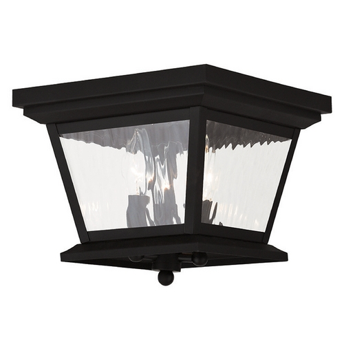 Livex Lighting Livex Lighting Hathaway Black Close To Ceiling Light 20239-04