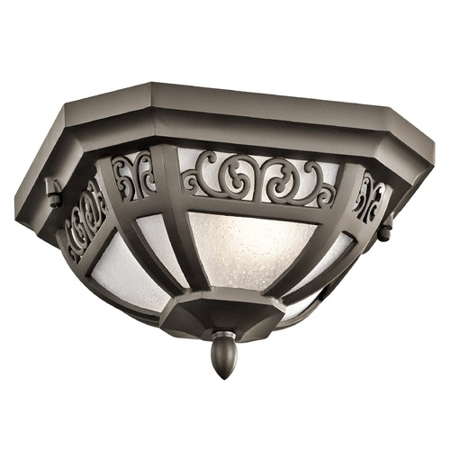 Kichler Lighting Kichler Lighting Park Row Olde Bronze Close To Ceiling Light 49616OZ