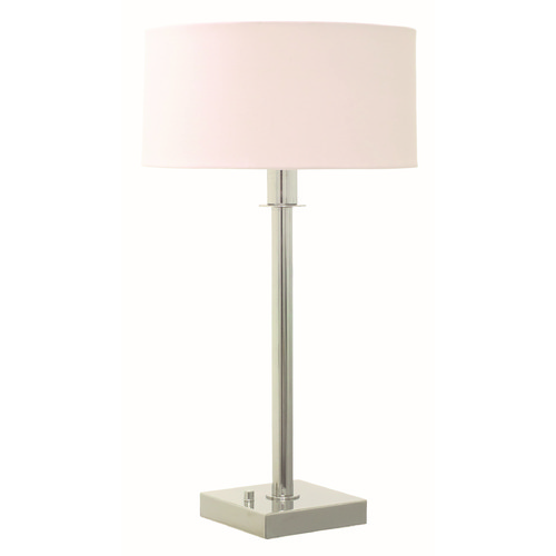 House of Troy Lighting House Of Troy Franklin Polished Nickel Table Lamp with Drum Shade FR750-PN