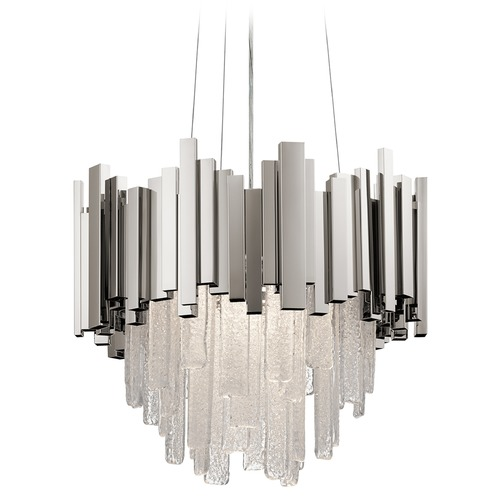Elan Lighting Elan Lighting Skyline Polished Nickel LED Pendant Light 83846