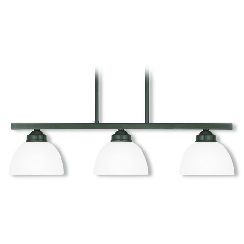 Livex Lighting Livex Lighting Somerset English Bronze Island Light with Bowl / Dome Shade 4226-92