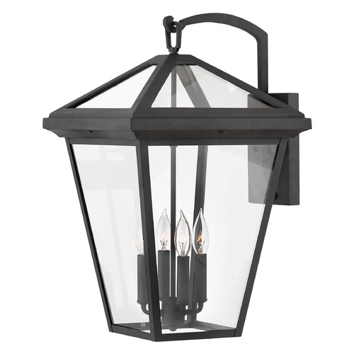 Hinkley Hinkley Alford Place 4-Light 24-Inch Museum Black Outdoor Wall Light 2568MB