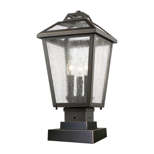 Z-Lite Z-Lite Bayland Oil Rubbed Bronze Post Light 539PHMS-SQPM-ORB