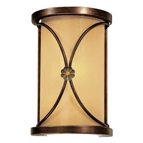 Minka Lavery Sconce Wall Light with Beige / Cream Glass in Deep Flax Bronze Finish 6230-288